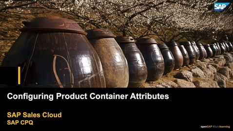 Thumbnail for entry Configuring Product Container Attributes - SAP CPQ