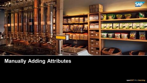 Thumbnail for entry Manually Adding Attributes - SAP CPQ