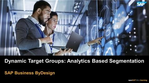 Thumbnail for entry Dynamic Target Groups: Analytics Based Segmentation - SAP Business ByDesign