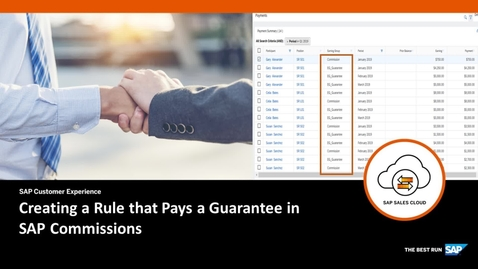 Thumbnail for entry Creating a Rule that Pays a Guarantee - SAP Commissions