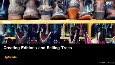 Thumbnail for entry Creating Editions and Selling Trees - SAP Upscale Commerce