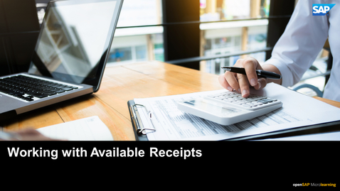 Thumbnail for entry Working with Available Receipts - SAP Concur