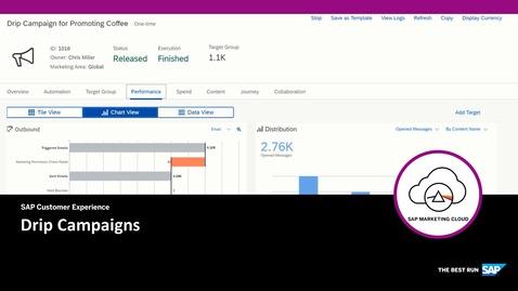 Drip Campaigns - SAP Marketing Cloud
