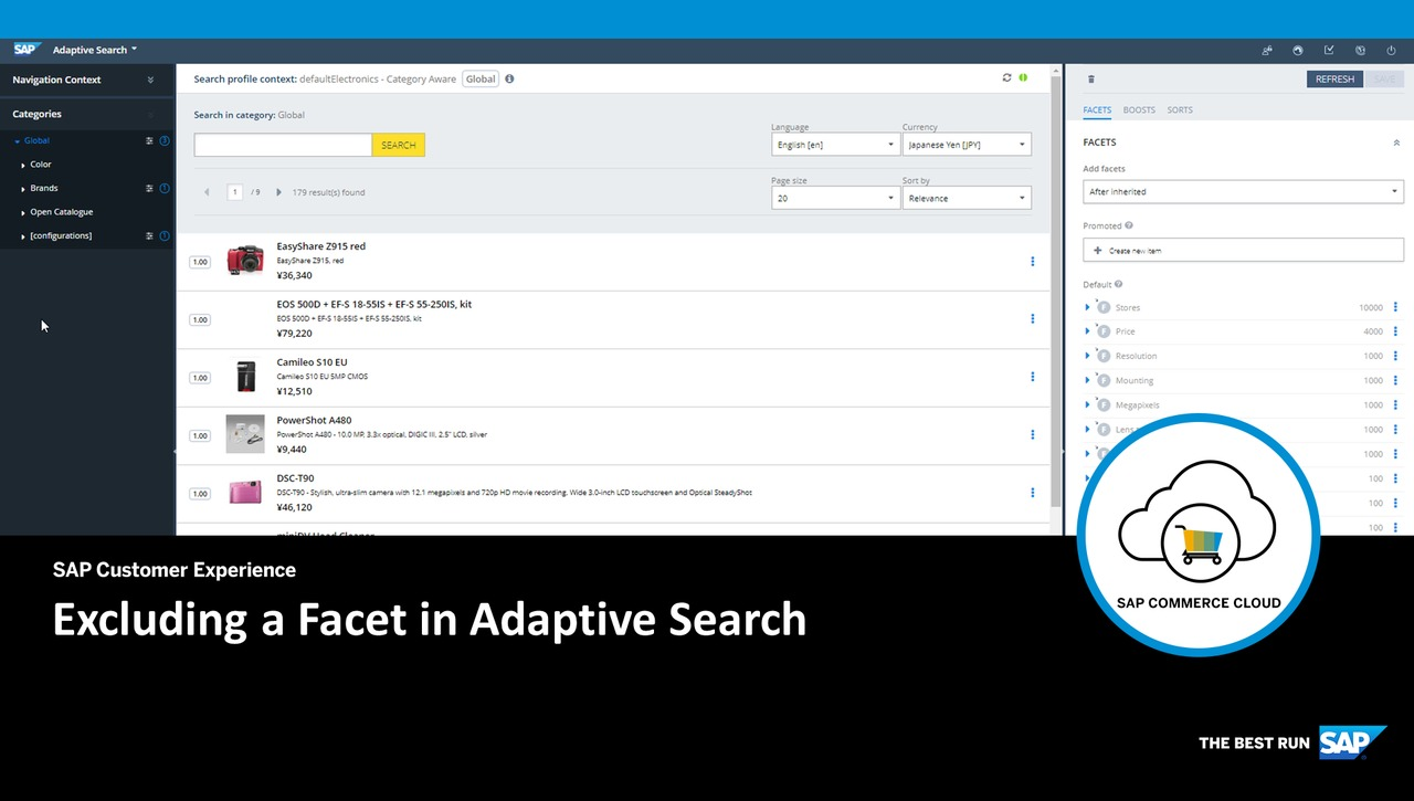 Excluding a Facet in Adaptive Search - SAP Commerce Cloud