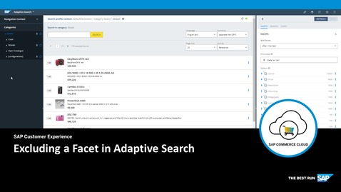 Thumbnail for entry Excluding a Facet in Adaptive Search - SAP Commerce Cloud