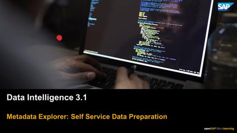 Thumbnail for entry Data Preparation - SAP Data Intelligence