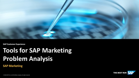 Thumbnail for entry Tools for SAP Marketing Problem Analysis - SAP Marketing