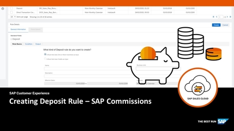 Thumbnail for entry Creating Deposit Rule - SAP Commissions