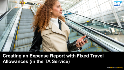 Thumbnail for entry Creating an Expense Report with Fixed Travel Allowances - SAP Concur