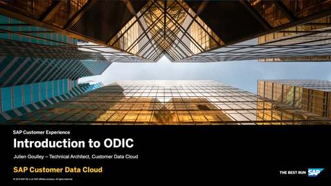 Thumbnail for entry Introduction to OIDC - SAP Customer Identity