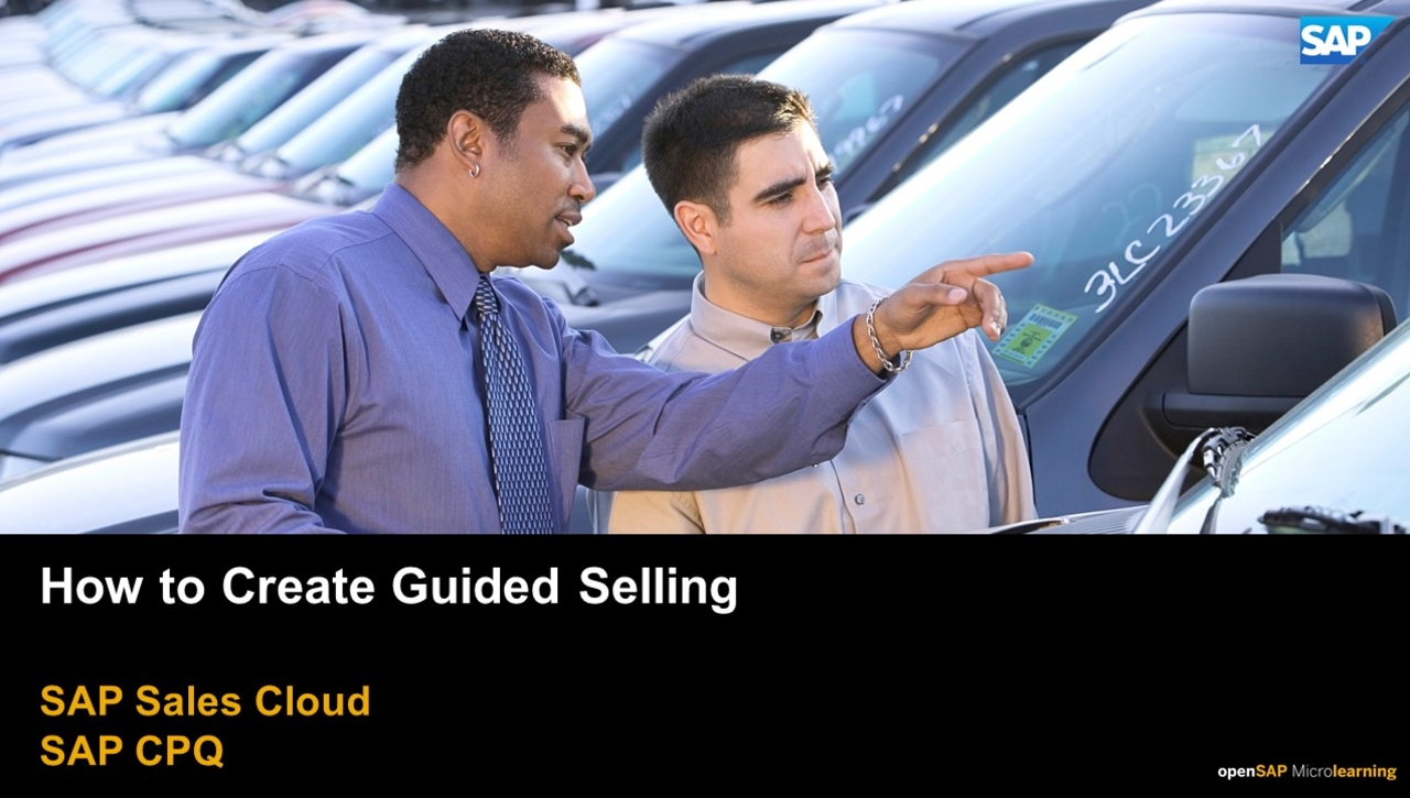 How to Create Guided Selling - SAP CPQ