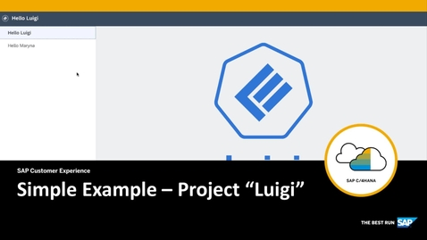 """Thumbnail for entry Simple Example – Project """"Luigi"""""""