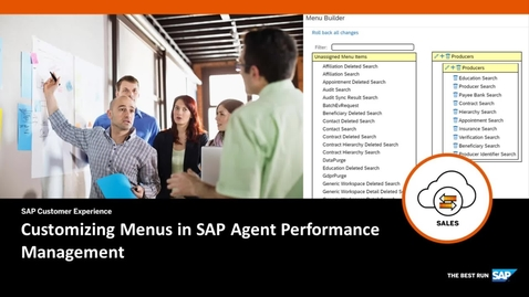 Thumbnail for entry Customizing Menus in SAP Agent Performance Management