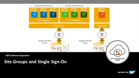 Thumbnail for entry Site Groups and Single Sign-On - SAP Customer Identity