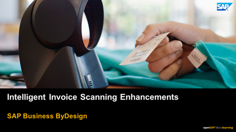 Thumbnail for entry Intelligent Invoice Scanning Enhancements - SAP Business ByDesign