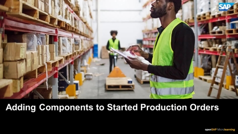 Thumbnail for entry Adding Components to Started Production Orders - SAP Business ByDesign