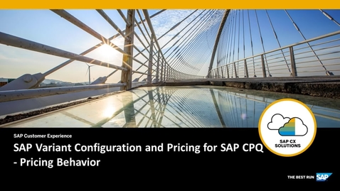 Thumbnail for entry SAP Variant Configuration and Pricing for SAP CPQ - Pricing Behavior