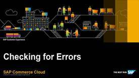 Thumbnail for entry Check for Errors in the Data Hub - SAP Commerce Cloud