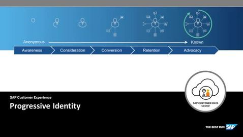 Thumbnail for entry Progressive Identity - SAP Customer Data Cloud