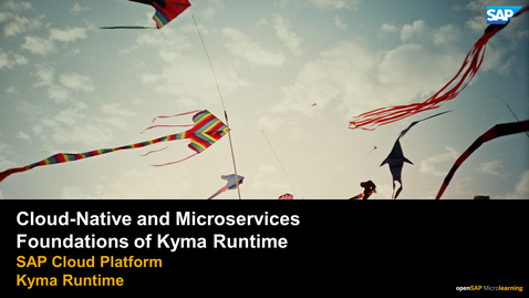 Thumbnail for entry Cloud-Native and Microservices - SAP Cloud Platform Kyma Runtime