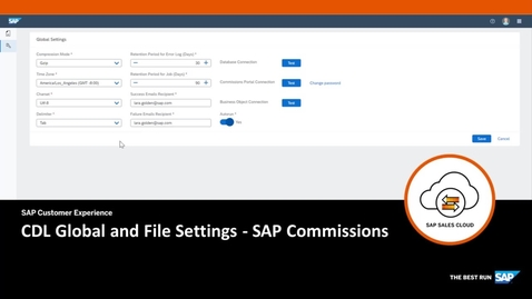 Thumbnail for entry CDL Global and File Settings - SAP Commissions