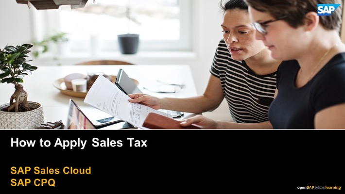 How to Apply Sales Tax - SAP CPQ