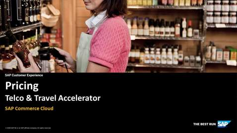 Thumbnail for entry Pricing - SAP Commerce Travel Accelerator 2.0