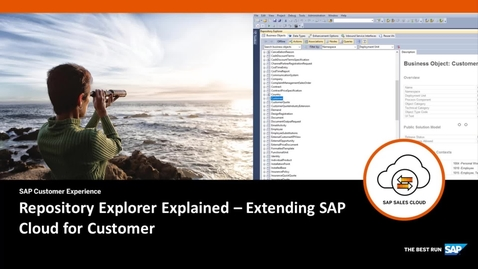 Thumbnail for entry Repository Explorer Explained - Extending SAP Cloud for Customer