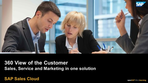 Thumbnail for entry 360 Customer View - SAP Sales Cloud