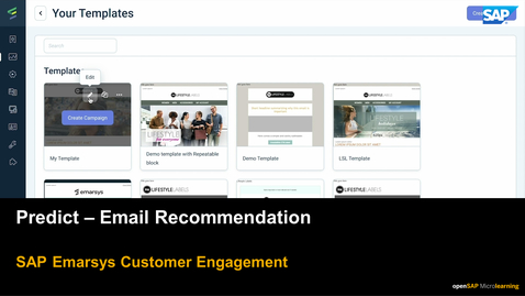 Thumbnail for entry Predict: Email Recommendation - SAP Emarsys Customer Engagement