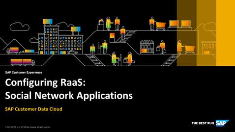 Thumbnail for entry Social Network Applications - SAP Customer Identity