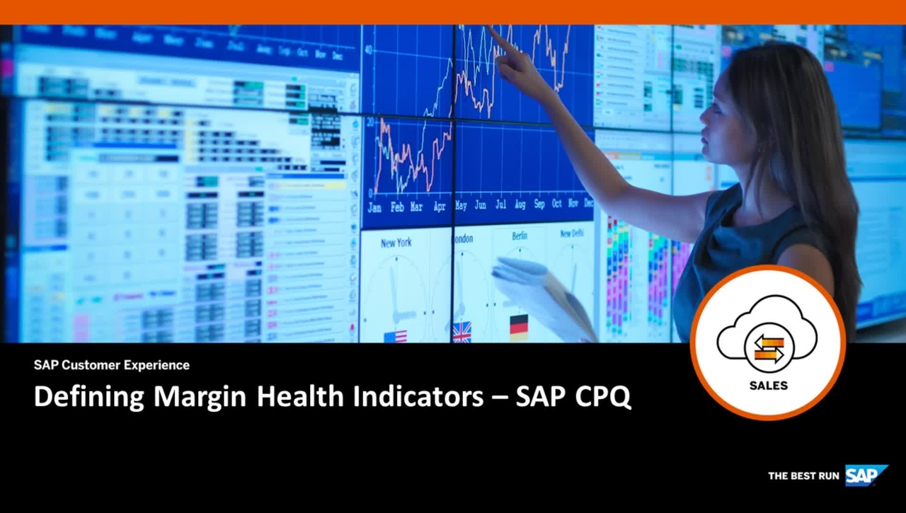 Defining Margin Health Indicators - SAP CPQ