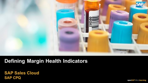 Thumbnail for entry Defining Margin Health Indicators - SAP CPQ