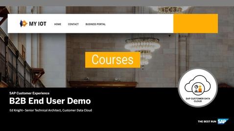 Thumbnail for entry End User Demo - CIAM for B2B - SAP Customer Data Cloud