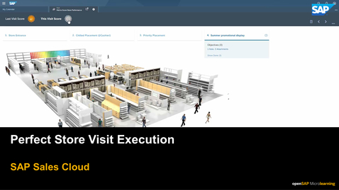 Thumbnail for entry Perfect Store Visit Execution - SAP Sales Cloud