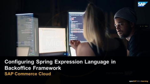 Thumbnail for entry Configuring Spring Expression Language in Backoffice Framework - SAP  Commerce Cloud
