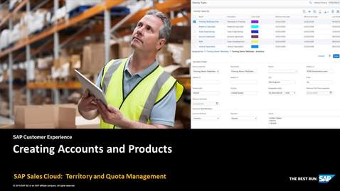 Thumbnail for entry Creating Accounts and Products in Territory and Quota Management