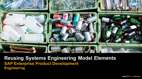 Thumbnail for entry Reusing Systems Engineering Models - PLM: Systems Engineering