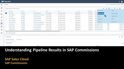 Thumbnail for entry Understanding Pipeline Results in SAP Commissions
