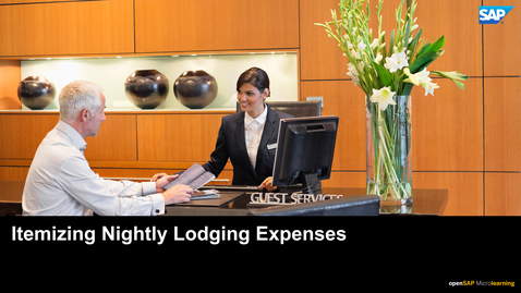 Thumbnail for entry Itemizing Nightly Lodging Expenses - SAP Concur