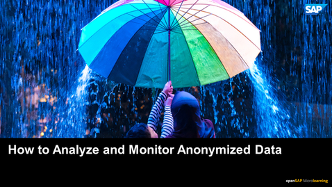 Thumbnail for entry How to Analyze and Monitor Anonymized Data - SAP HANA Cloud