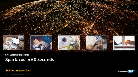 Thumbnail for entry Spartacus in 60 Seconds - SAP Commerce Cloud