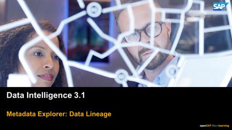 Thumbnail for entry Data Lineage - SAP Data Intelligence
