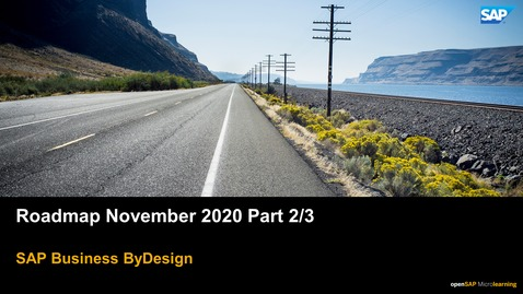 Thumbnail for entry Roadmap November 2020 Part 2/3 - SAP Business ByDesign