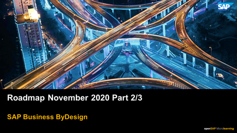 Thumbnail for entry Roadmap November 2020 Part 2/3 - SAP Business ByDesign