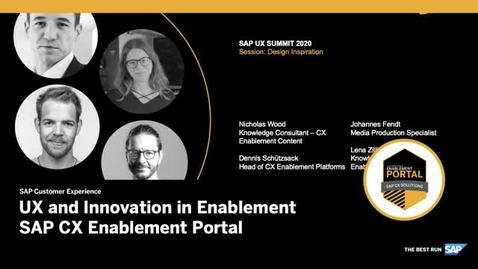 Thumbnail for entry UX and Innovation: Interactive Video - SAP CX Enablement Portal