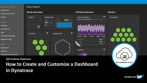 Thumbnail for entry How to Create and Customize a Dashboard in Dynatrace- SAP Commerce