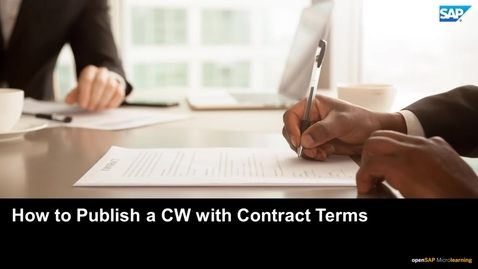Thumbnail for entry How to Publish a Contract Workspace with Contract Terms - SAP Ariba
