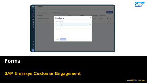 Thumbnail for entry Forms - SAP Emarsys Customer Engagement