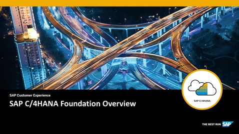 Thumbnail for entry SAP C/4HANA Foundation Administrator Challenges - SAP C/4HANA - Webinar